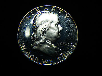 1950 50C Franklin Half Dollar Proof+++ Looks Cameo, WOW!
