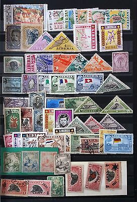 Liberia Stamps Classic Lot With Allegory Of Liberia