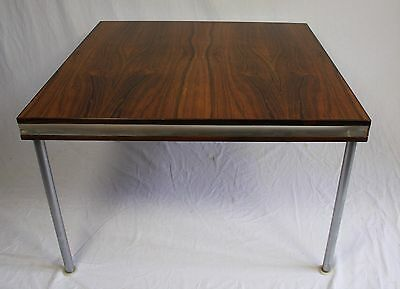 Vintage Danish Rosewood & Steel Coffee Table Knudsen For France & Son Denmark