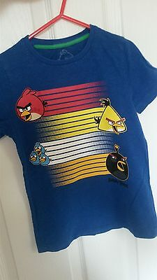 boys angry birds tshirt size 5-6 years marks and spencers