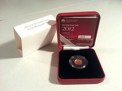 Ireland 2012 €20 Book of Kells Gold Proof Coin