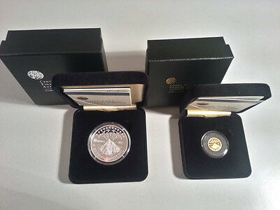 Ireland 2008 €10 & €20  Sceilig Mhichil Silver & Gold Proof Coins