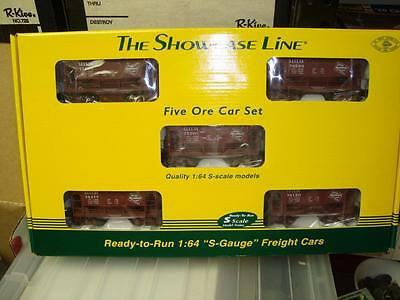 Showcase Line S Scale 5 Ore Car Milwaukee Road  Set NEW in BOX #1432