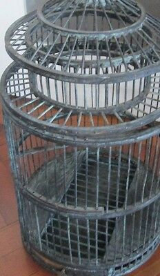 Old wooden bird cage