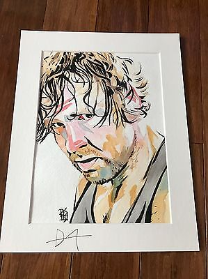 WWE Dean Ambrose signed Painting