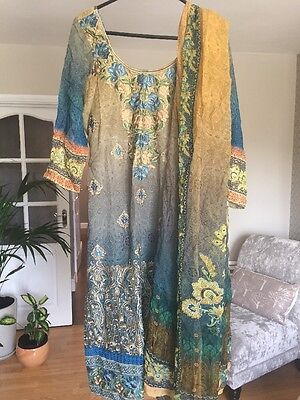 Brand New Ladies Indian Dress  Suit Bollywood Fully Stitched Approx Size 12