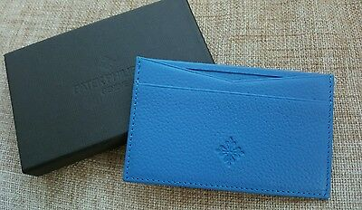Patek Philippe Blue Calf Leather Business & Credit Card Holder Wallet New in Box