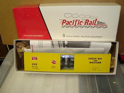 Vintage Pacific Rail Shop Green Bay GBW Box Car  S Scale NEW IN BOX