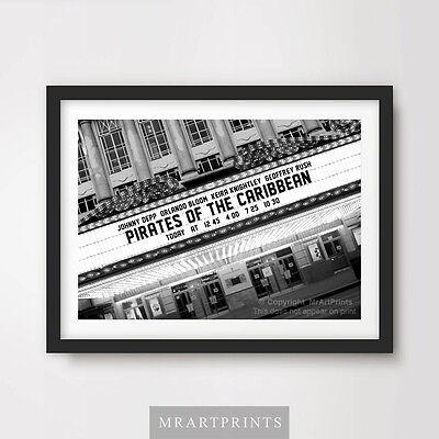 PIRATES OF THE CARIBBEAN Art Print Poster Cinema Sign Marquee Movie Film Wall