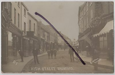 Bromyard, Worcestershire: Social History: High Street/Shops View RP Postcard