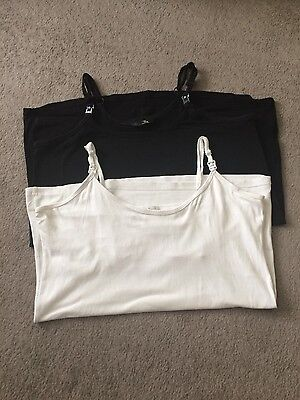 nursing tops, black and white, size M&L