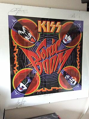 Kiss Sonic Boom Litho 250 Made Signed By The Band Rare
