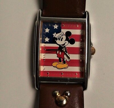 Disney Mickey Mouse Wristwatch MU0753 by SII International Stars & Stripes band