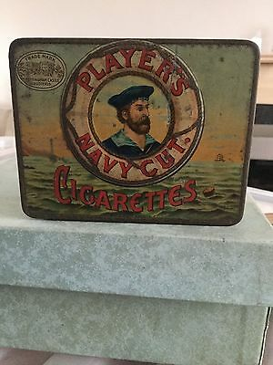 Old Players Navy Cut Cigarette Tin