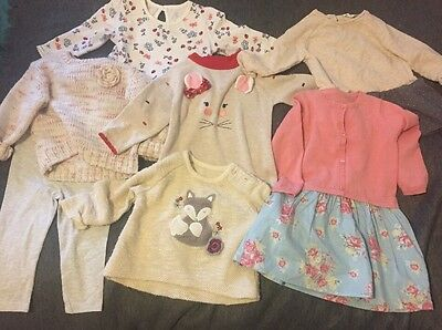 Baby Girl Clothes 9-12 Months Excellent Clean Used Bundle Bulk Buy 7 Items Zara
