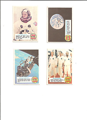 Lot of 4 Man on the Moon Cards
