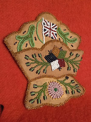 iroquois beaded whimsy with Union Jack and flower design circa 1900