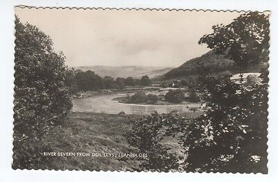 Postcard.River Severn from Dol llys, Llanidoes. Real Photo.