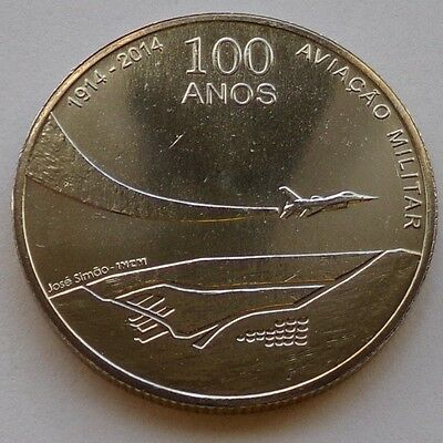 Portugal 2,50 Euro Gedenkmünze 2014 1st Centenary of Military Aviation