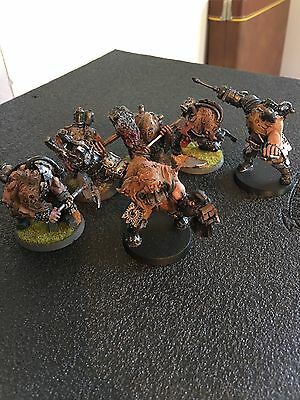 FORGEWORLD CHAOS 40k RENEGADE OGRYN BERSERKERS X6 Painted.