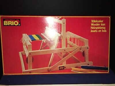 Brio Wooden Collapsible Miniature Portable Weaving Loom Sweden Tabletop 31380
