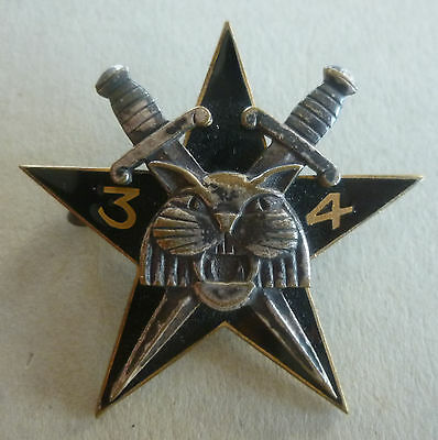 Insigne Commando 34 Vietnam Indochine DRAGO O.M.