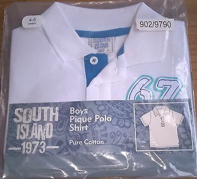 JOB LOT x19 BOYS COTTON POLO SHIRTS - BLUE & WHITE - SIZES 4 - 10 YEARS - NEW