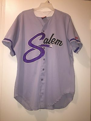 Salem Avalanche Carolina League Game Used Jersey - circa late 1990s