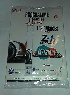Le Mans 24 Hours 2017 Official Programme with poster & inserts - NEW SEALED