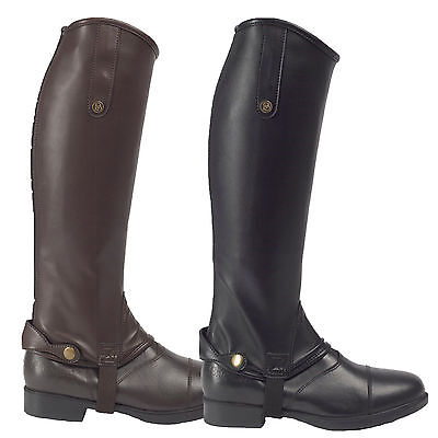 Brogini Treviso Equi leather adult tall riding gaiters/half chaps black or brown
