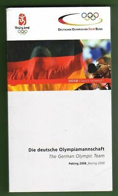 Orig.Media / Team Guide    Olympic Games BEIJING 2008  -  TEAM GERMANY  !!  RARE