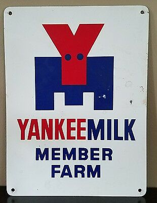 Vintage Yankee Milk Dairy Farm Member Advertising Sign - New Old Stock