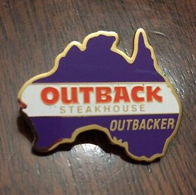 Outback Steakhouse Outbacker Pin Australia Purple Hat Lapel Pin New!