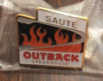 Outback Steakhouse Sauté Pin Saute Flames Hat Lapel Employee Pin