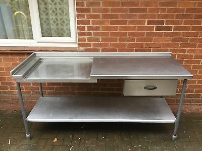 Commercial Stainless Steel Preparation Table With Lower Shelf & Lower Drop InTop