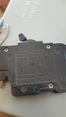 1  FPE 15 Amp 1 Pole Stab-Lok Type NC (Thin) Federal Pacific Breakers NC115