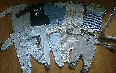 baby boys 3-6 months bundle rompers babygros sleepsuits some new clothes