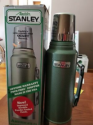 VTG Aladdin Stanley 'Quart' Size Thermos 32 oz. USA Made never used new with box
