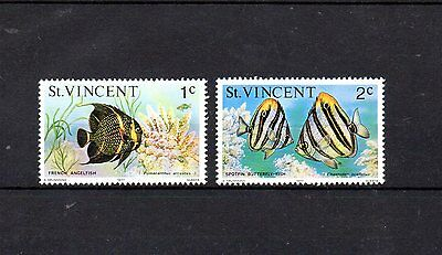 set of 2 mint tropical fish themed stamps