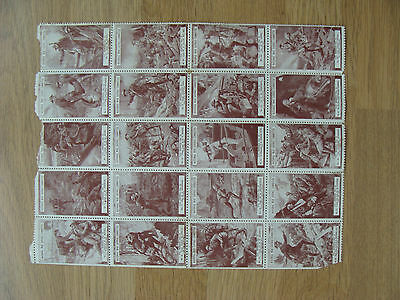 CINDERELLA WW1 WAR SAVINGS STAMPS - VC HEROES SERIES No.2  1-20 inc MINT