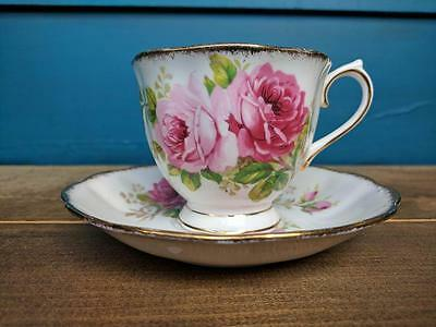 Royal Albert American Beauty Bone China Teacup and Saucer Set