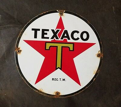 texaco porcelain sign.