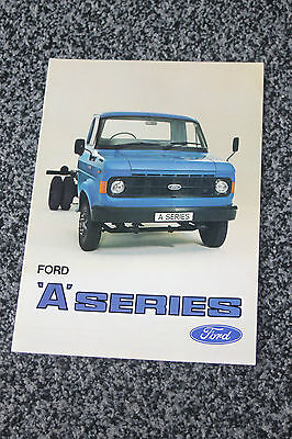Ford A series truck sales brochure 1979