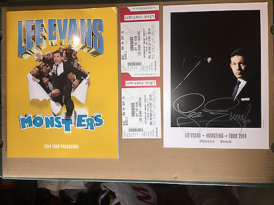 Lee Evans Signed Photocard & Programme from the Monsters Stand Up Comedy Tour
