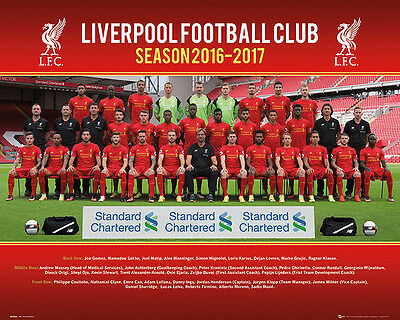 Liverpool : Team Season 2016-17 - Poster 40cm x 50cm