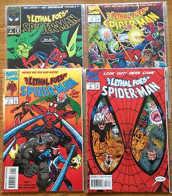 Marvel LETHAL FOES OF SPIDER-MAN Complete Series 1-4 LOT SET RUN Vulture Rhino