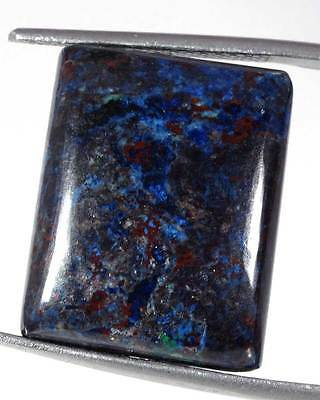 29.40Cts. A++ QUALITY 17 X 22MM AZURITE SQUARE CABOCHON LOOSE GEMSTONE AFRICA