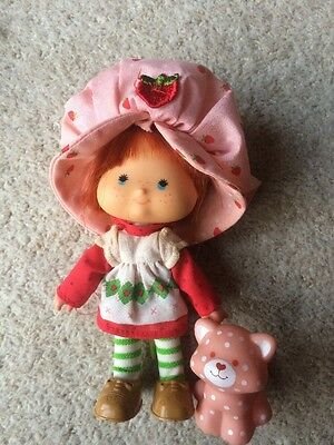 Vintage Strawberry Shortcake and Custard Doll 1982