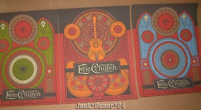 Eric Church Status Serigraph Nashville Set of Posters Prints Signed Numbered Art