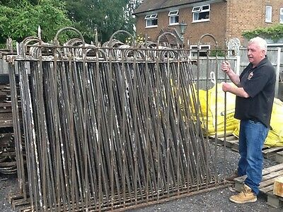 reclaimed wrought iron railing/fencing 69ins tall